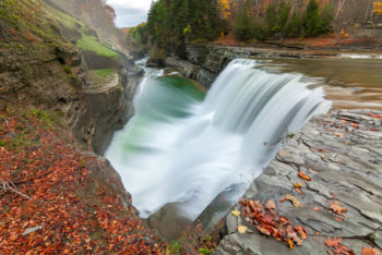 letchworth state park waterfall